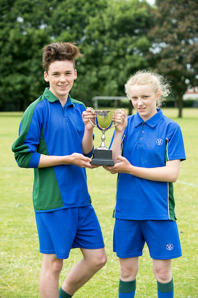 Image showing what the Somercotes Academy Sports Uniform looks like